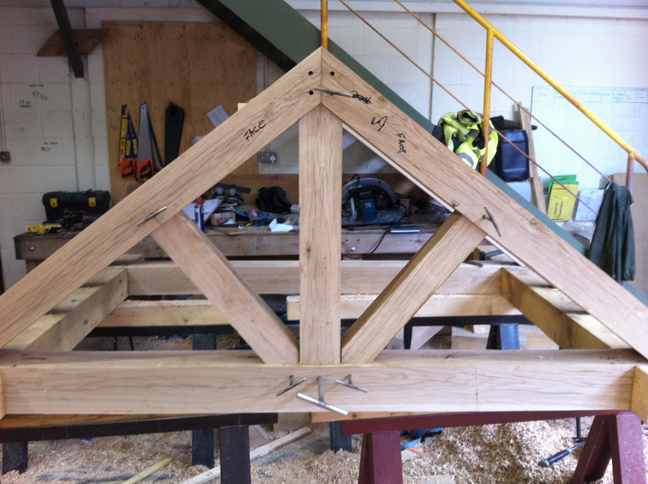 Traditional Queen Post Roof Truss Timber Framing Timber